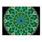 Green Spring Kaleidoscope Postcard