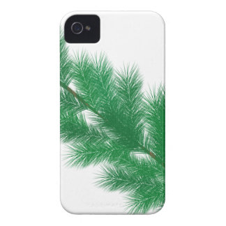 Green spruce branches christmas decoration iPhone 4 cases