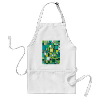 Green Squares Adult Apron