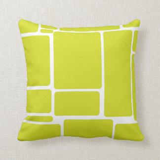 Green Squares Throw Cushion