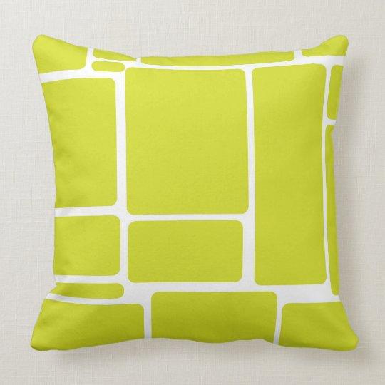 Green Squares Throw Pillow