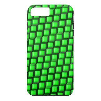 Green Squares Tough iPhone 7 Plus Case