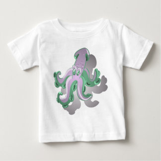 Green Squid Baby T-Shirt