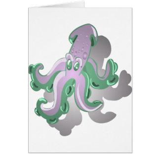 Green Squid Card