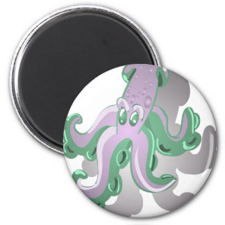 Green Squid Magnet