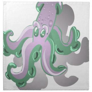 Green Squid Napkin