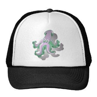 Green Squid Trucker Hat
