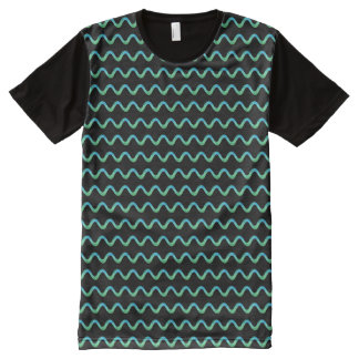 Green Squiggle All-Over-Print T-Shirt