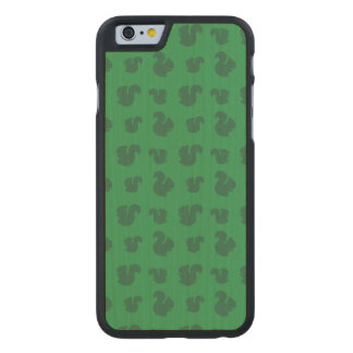 Green squirrel pattern carved® maple iPhone 6 case