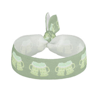 Green St-Patrick's Day hairtie