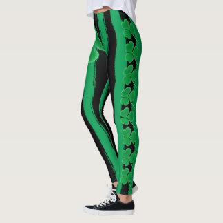 Green St Patrick's Day | Shamrocks Irish Clovers Leggings