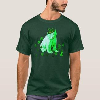 Green St. Patrick's Polar Bear T-Shirt