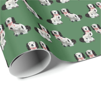 Green Staffordshire Dogs by Redux121DesignStudio Wrapping Paper
