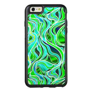 Green Stained Glass Abstract OtterBox iPhone 6/6s Plus Case