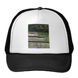 Green stairs trucker hat