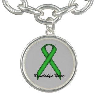 Green Standard Ribbon by Kenneth Yoncich Bracelet
