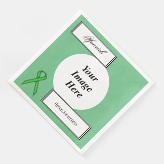 Green Standard Ribbon Template by Kenneth Yoncich Disposable Napkins
