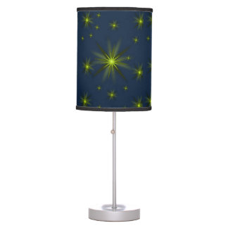green star blue lamp shade