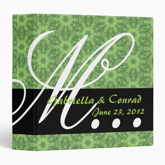 Green Star Flowers Monogram Wedding Planner G35 Binders