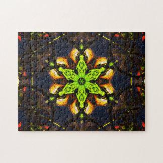 Green Star Mandala Puzzles