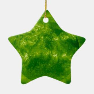 GREEN Star RED Star Ceramic Star Ornament