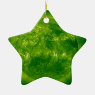 Green Star Yellow Star Ceramic Star Ornament