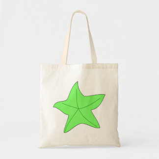 Green Starfish Canvas Bags