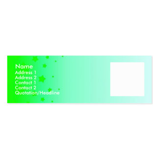 Green Stars Pack Of Skinny Business Cards