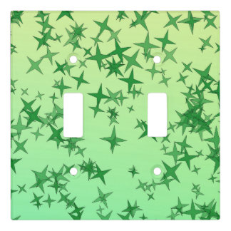 Green Stars Light Switch Cover