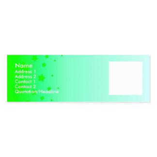 Green Stars Mini Business Card