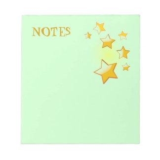 Green Stars Notepad