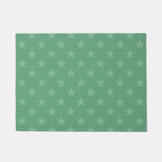 Green stars pattern doormat