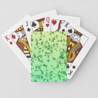 Green Stars Playing Cards