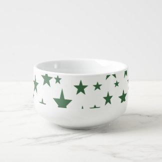 Green Stars Soup Mug
