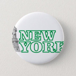 green statue of liberty art 2 inch round button