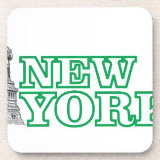 green statue of liberty art coaster