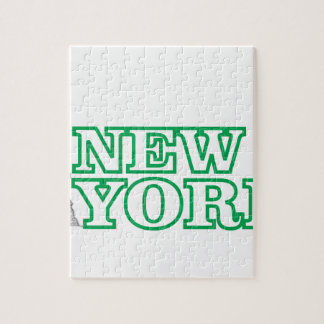 green statue of liberty art jigsaw puzzle