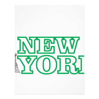 green statue of liberty art letterhead