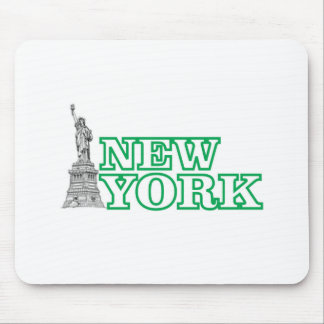 green statue of liberty art mouse pad