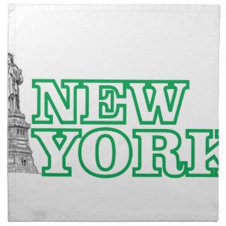 green statue of liberty art napkin