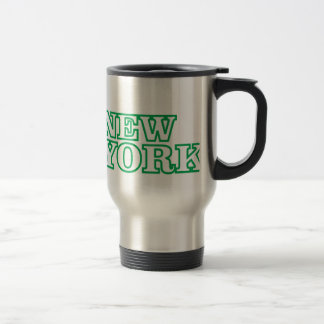 green statue of liberty art travel mug