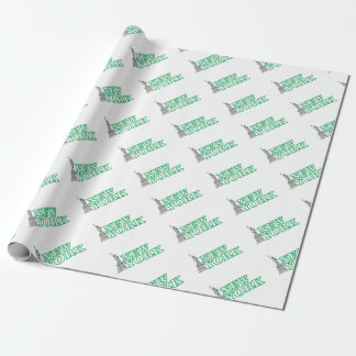 green statue of liberty art wrapping paper