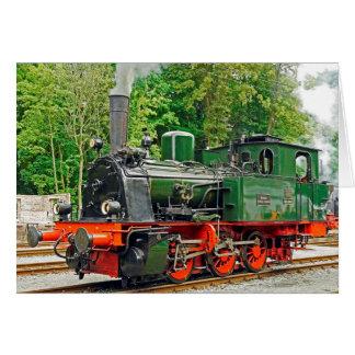 Green Steam Engine Card