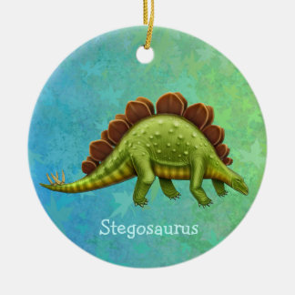 Green Stegosaurus Dinosaur Ornament