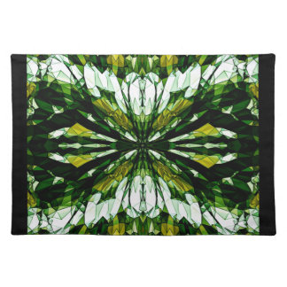 Green Stone Jewel Mosaic Pattern Placemats