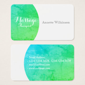 Green stone natural elegance business card