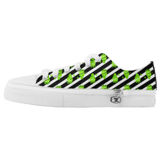 Green Strawberry Low Tops Shoes