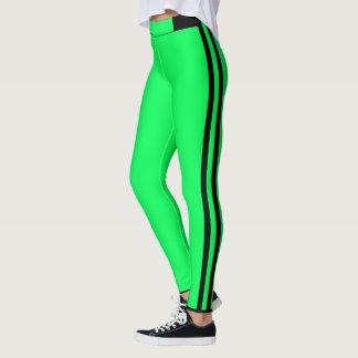 Green Stripe Leggings