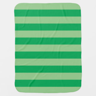 Green Striped Baby Blanket