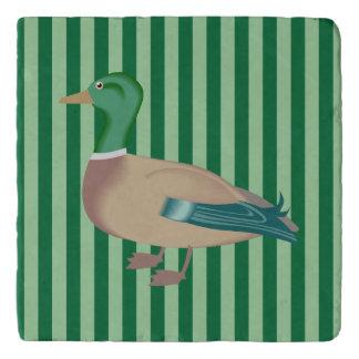 Green Striped Duck Trivet